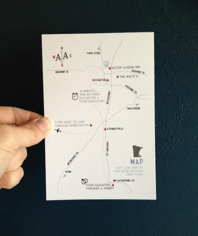 Diy Map Insert For Wedding Invites