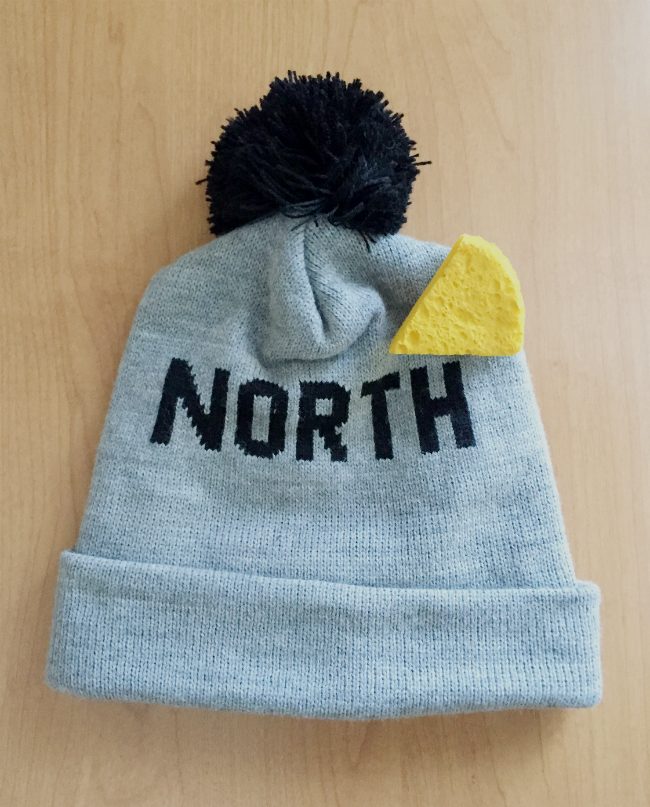 north hat_diy mini cheesehead