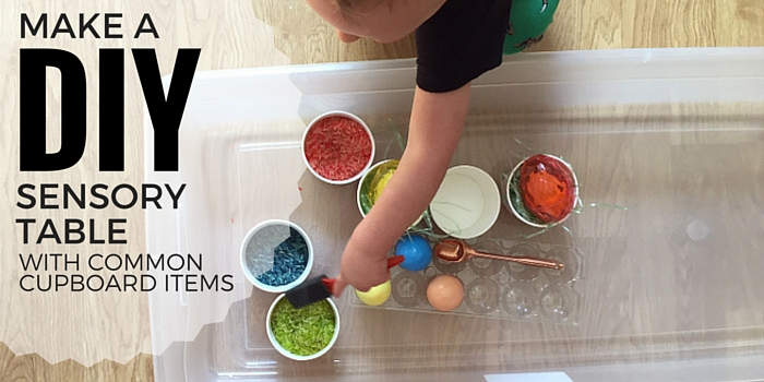 DIY SPRING Sensory Table