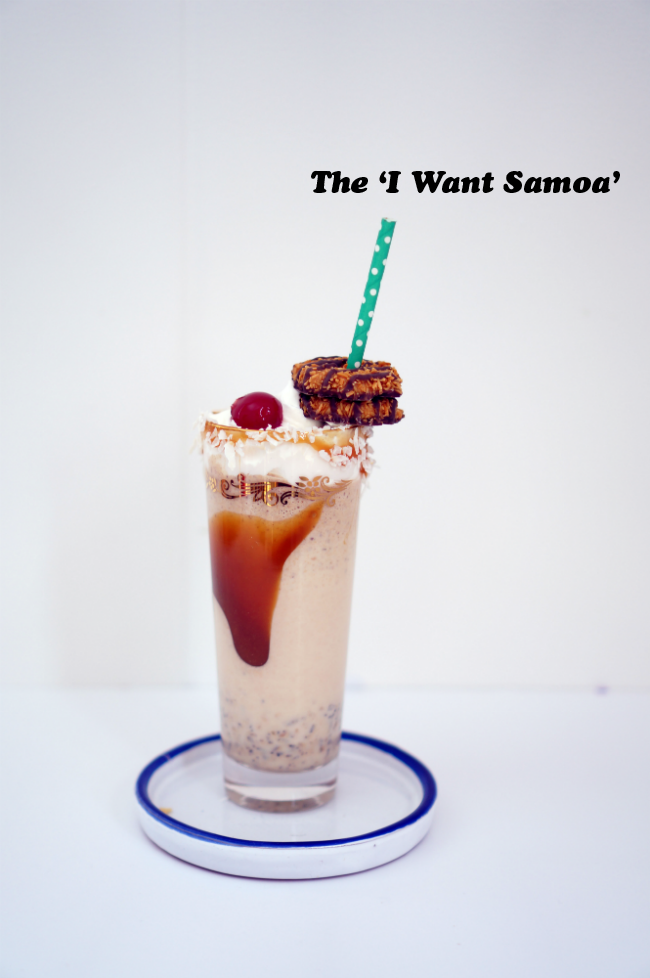 DIY Samoa Girl Scout Cookie Freak Shake
