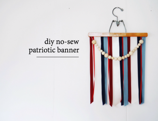DIY 4th of July Banner (no sew)