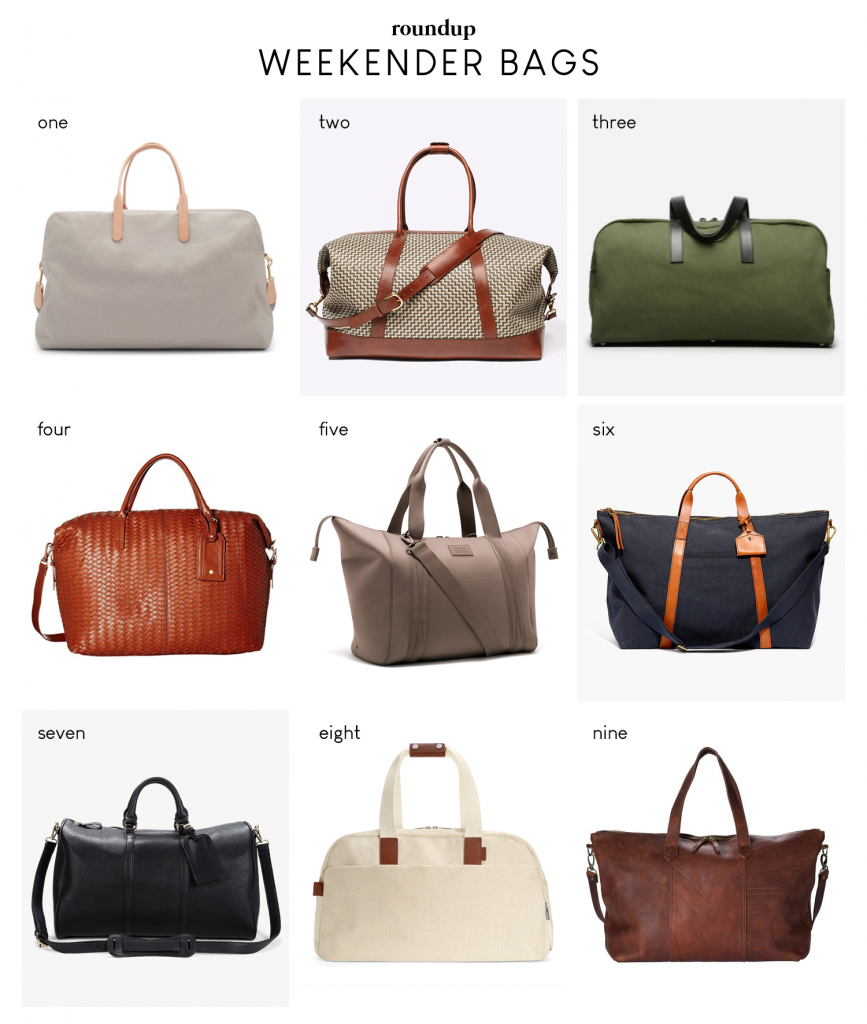 Nine of my favorite weekender duffle bags